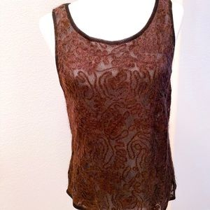 Dana Buchman set mohair wool camisole sweater